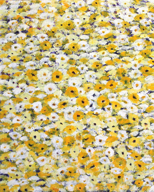 Flores amarillas y blancas – tres colores II